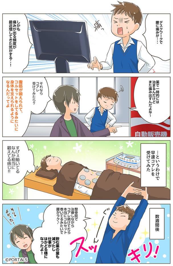 コアレ×腰痛施術マンガ