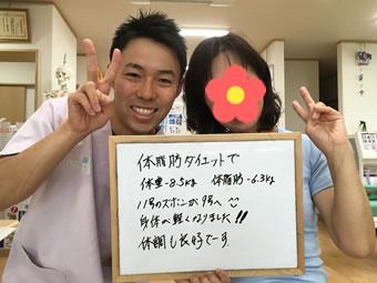 中川村Aさん 体脂肪ダイエット患者様の声