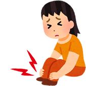 上伊那郡中川村で股関節痛に悩む女性のイラスト