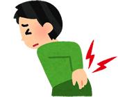 上伊那郡中川村で股関節痛による悩む男性イラスト