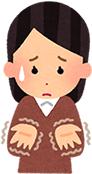 上伊那郡中川村で股関節痛で手が痺れている女性のイラスト
